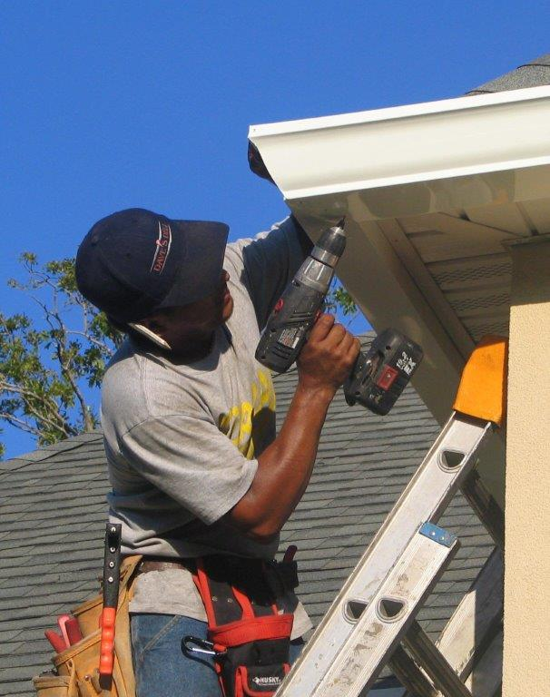 gutter or eavestrough repair